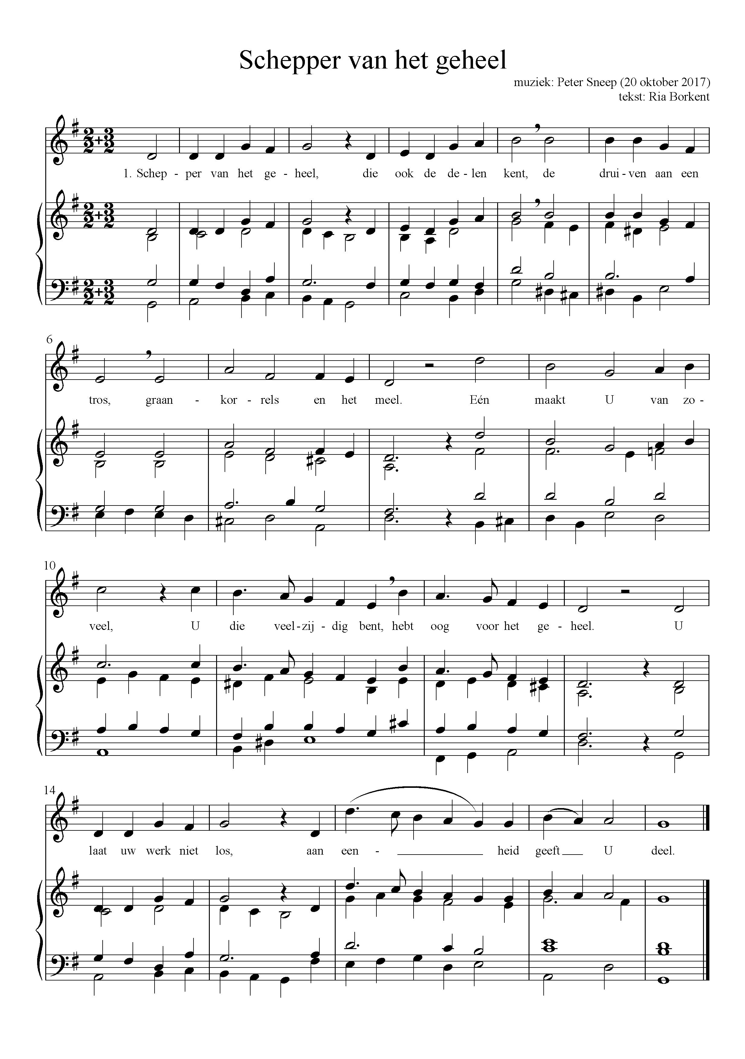 Ria Borkent schrijft lied voor kerkdienst 11/11